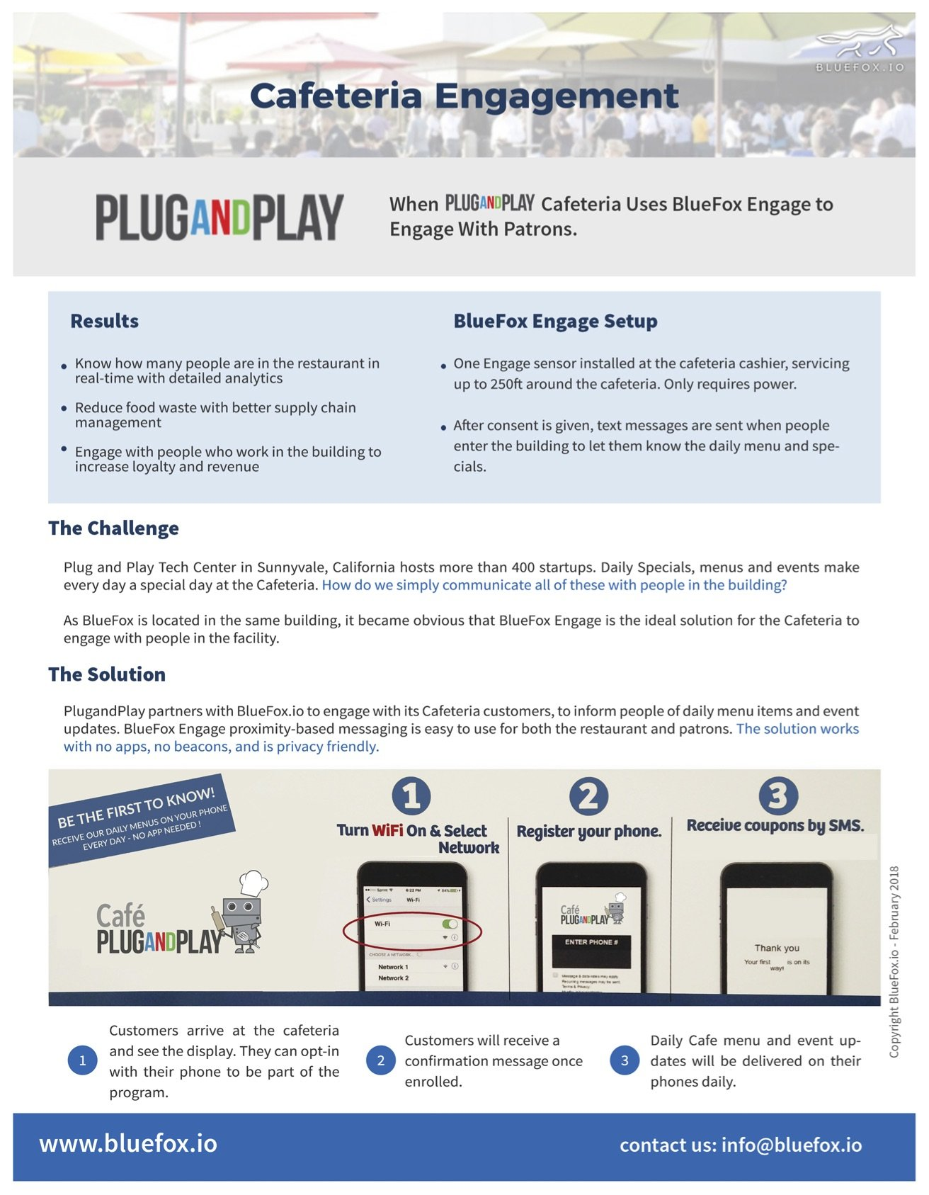 BlueFox Engage use case for cafes