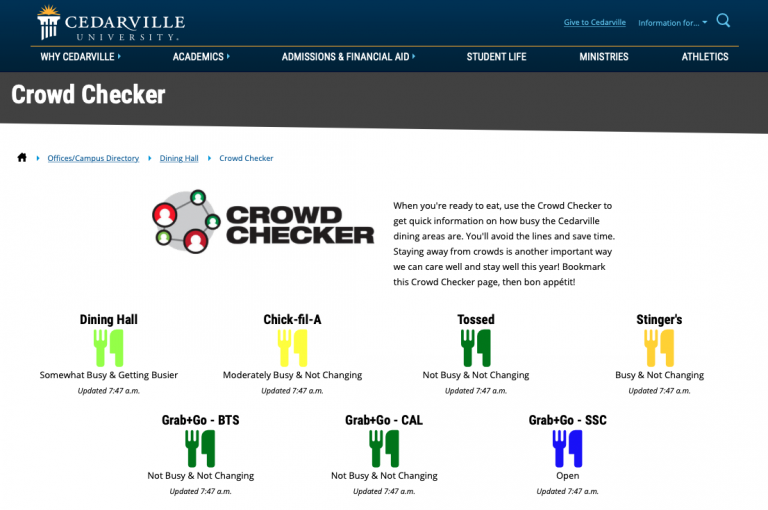 crowd checker: real-time occupancy dashboard